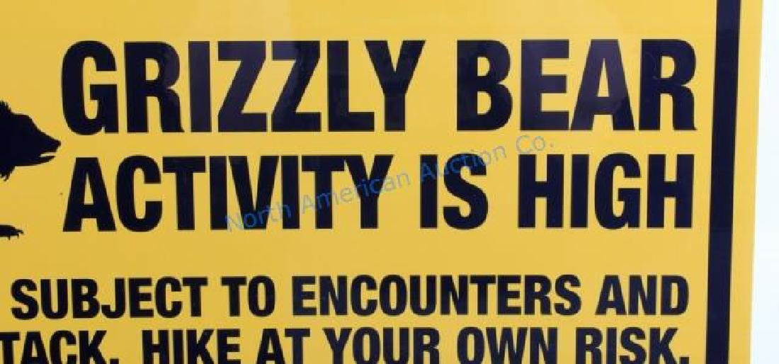 Grizzly Bear Warning Sign from Canada - 3