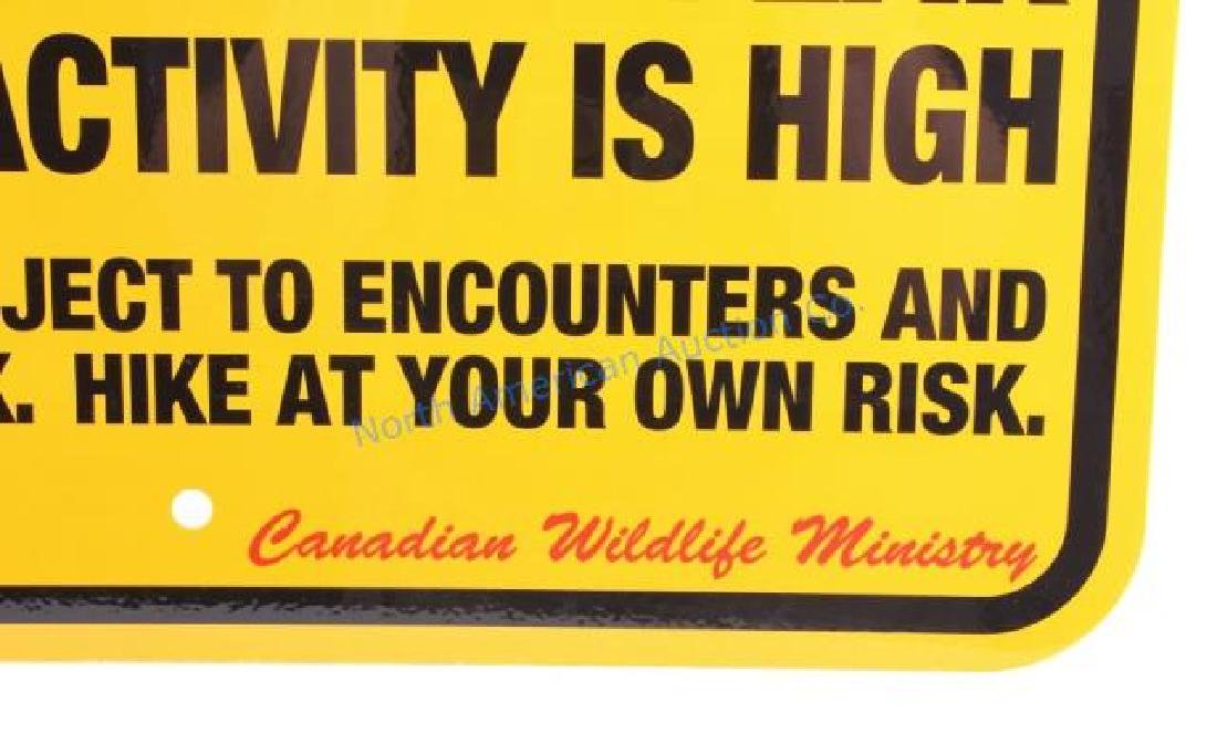 Grizzly Bear Warning Sign from Canada - 4