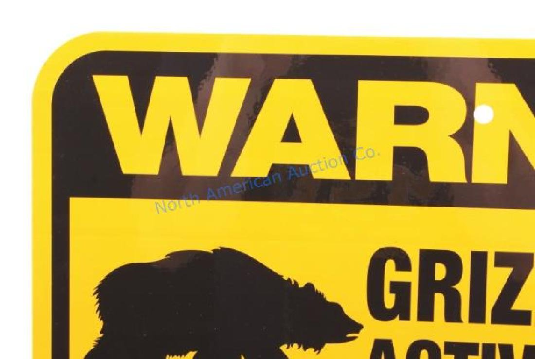 Grizzly Bear Warning Sign from Canada - 5