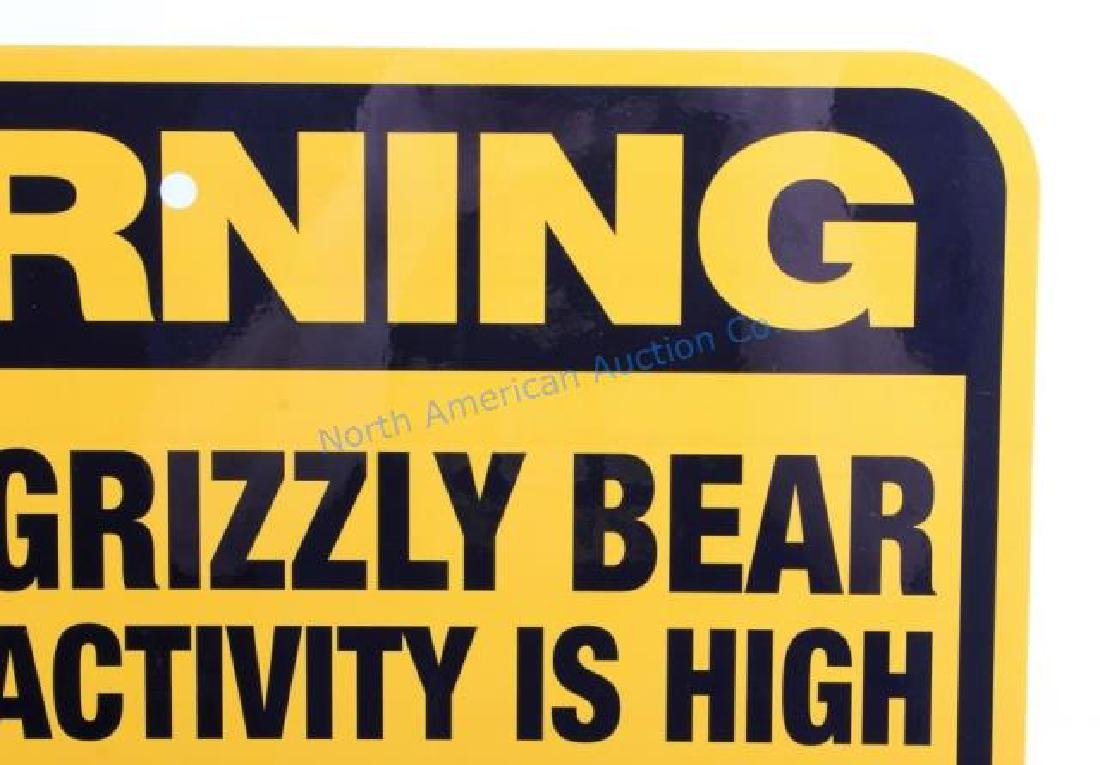 Grizzly Bear Warning Sign from Canada - 6