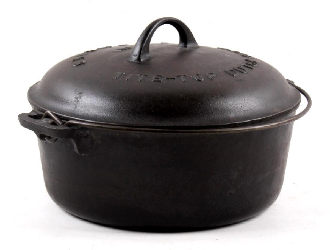 Griswold No. 8 Cast Iron Tite-Top Dutch Oven - 10