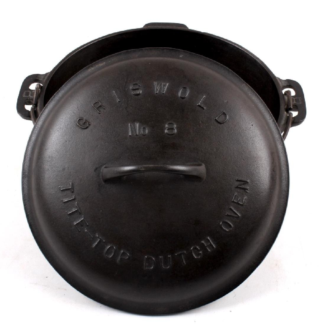 Griswold No. 8 Cast Iron Tite-Top Dutch Oven - 2