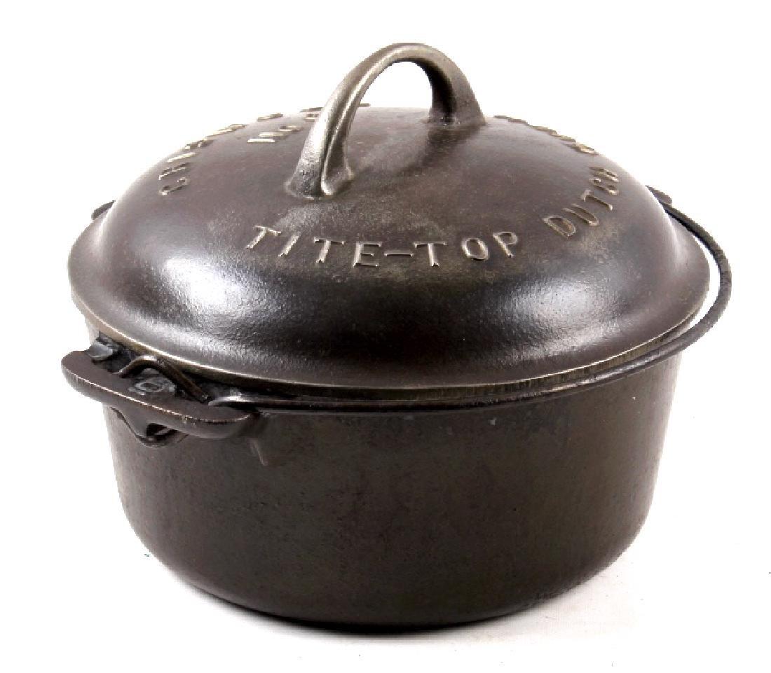 Griswold No. 6 Cast Iron Tite-Top Dutch Oven
