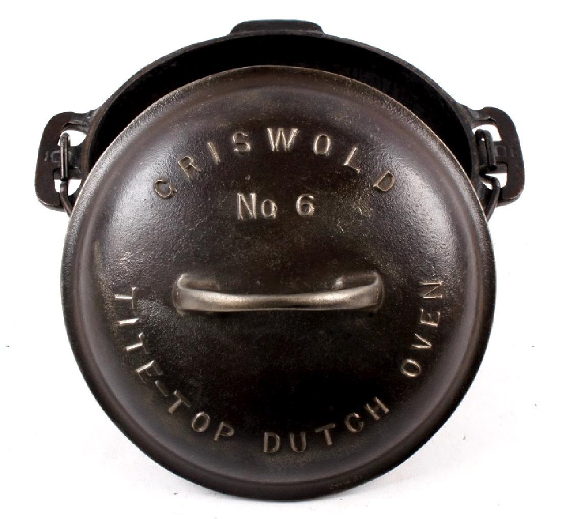 Griswold No. 6 Cast Iron Tite-Top Dutch Oven - 3