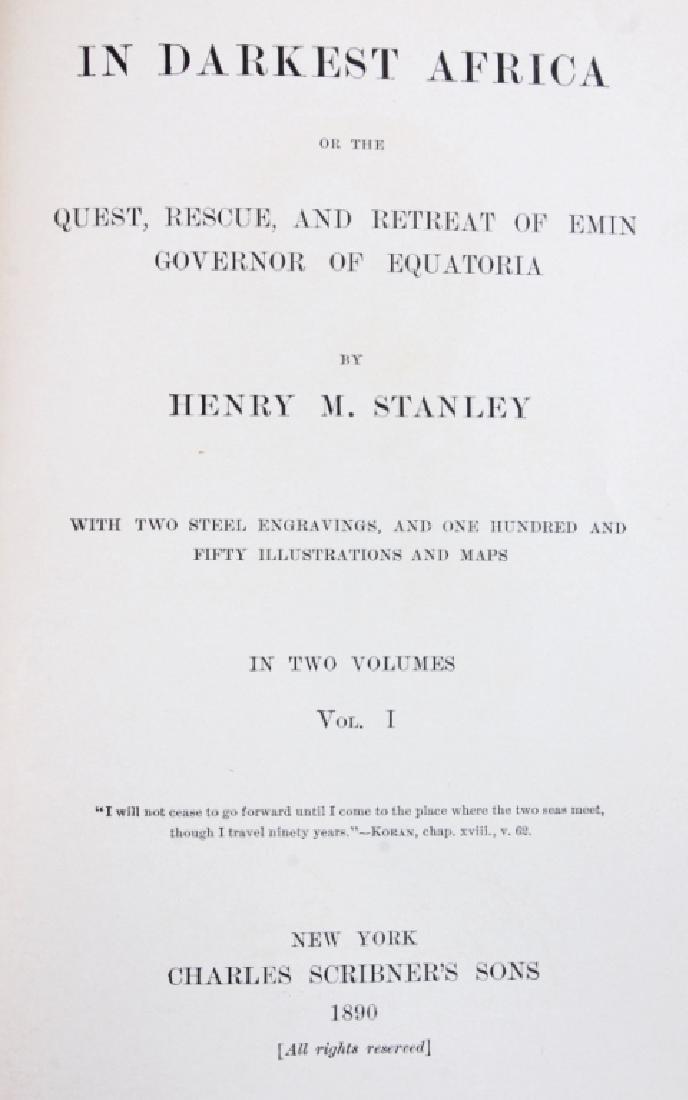 In Darkest Africa by H.M. Stanley 1st Ed. w/ Maps - 3