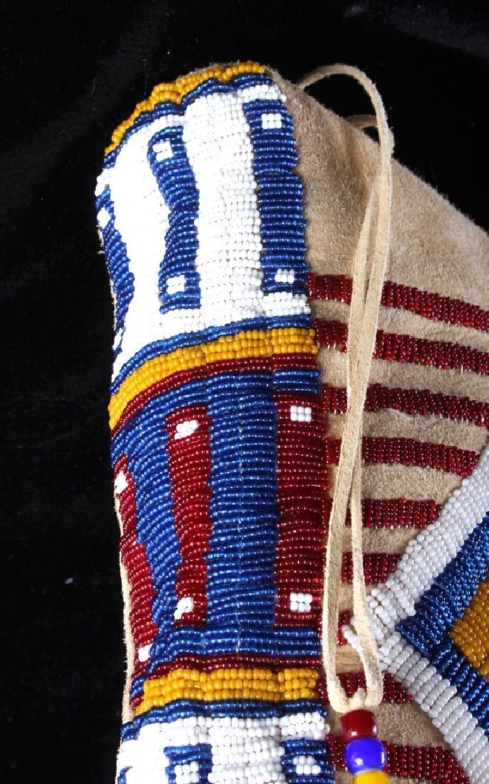 Blackfeet Indian Beaded Possibles Teepee Bag - 11