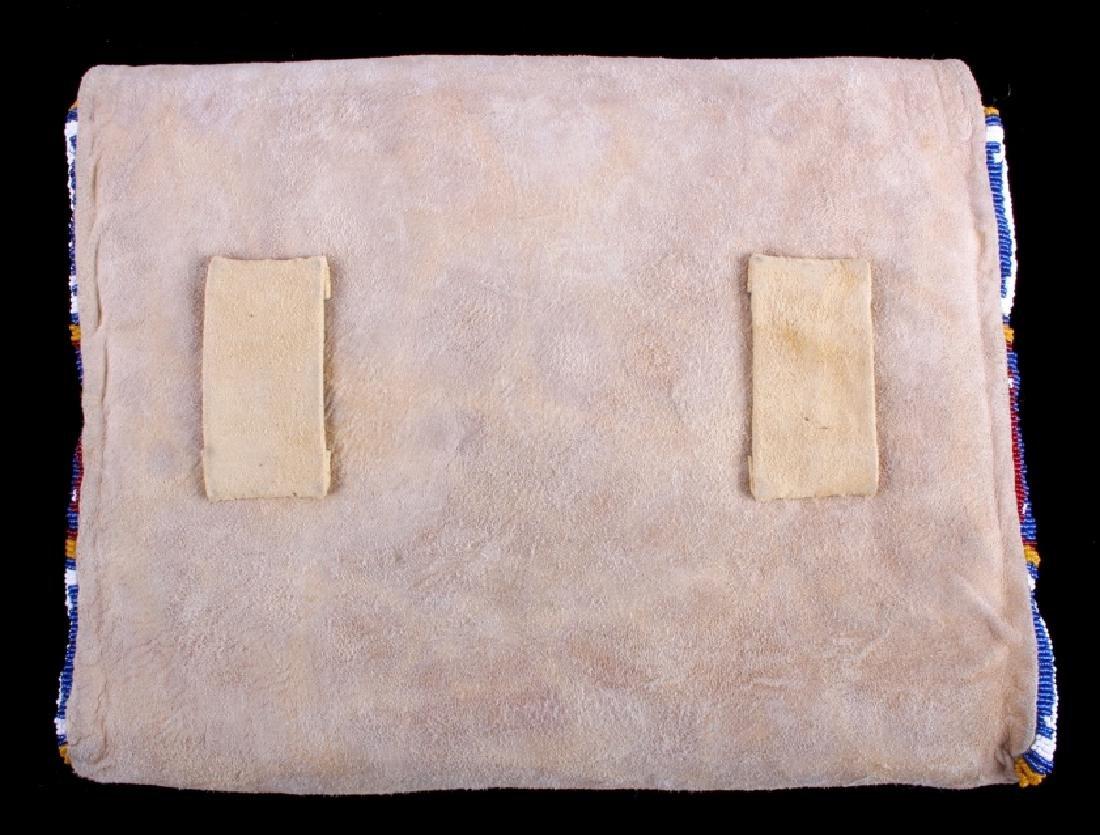 Blackfeet Indian Beaded Possibles Teepee Bag - 13