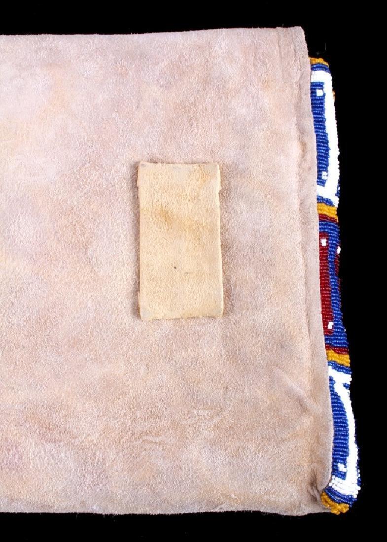 Blackfeet Indian Beaded Possibles Teepee Bag - 14