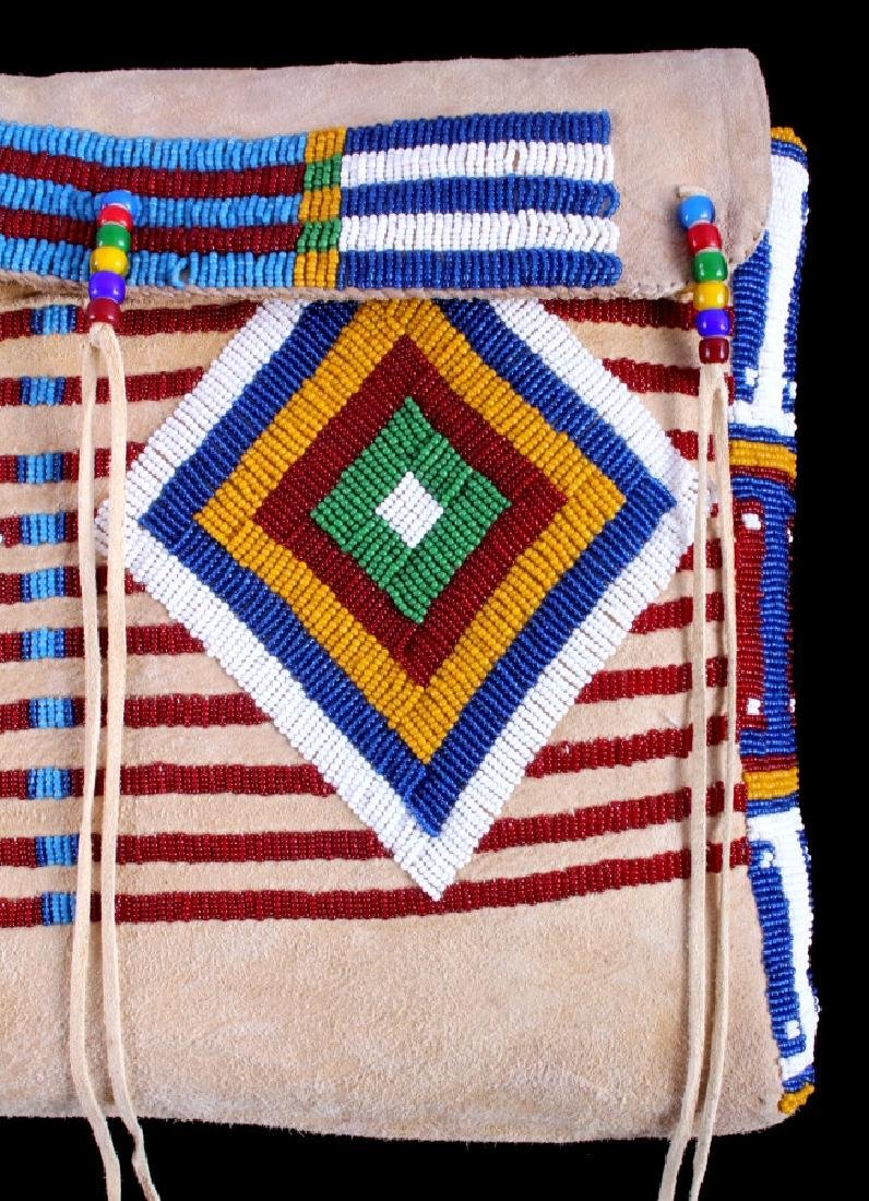 Blackfeet Indian Beaded Possibles Teepee Bag - 3