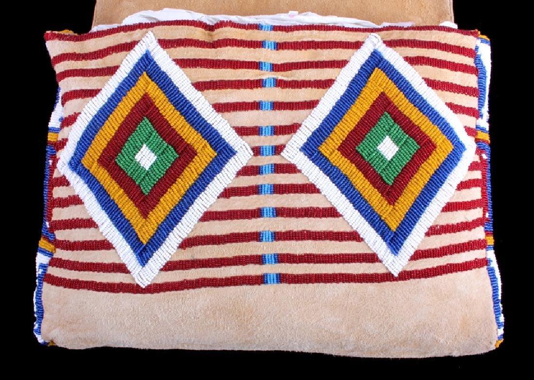 Blackfeet Indian Beaded Possibles Teepee Bag - 4