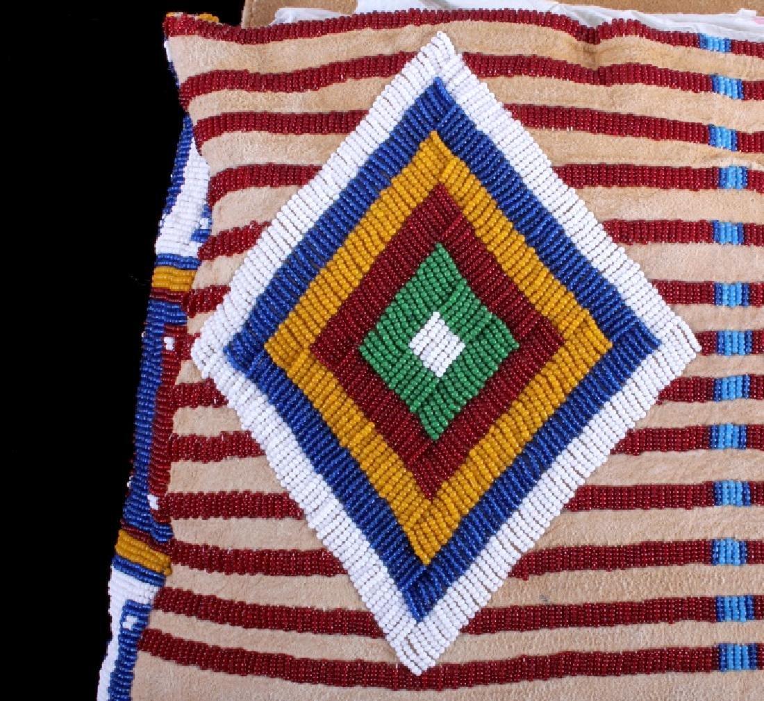 Blackfeet Indian Beaded Possibles Teepee Bag - 5