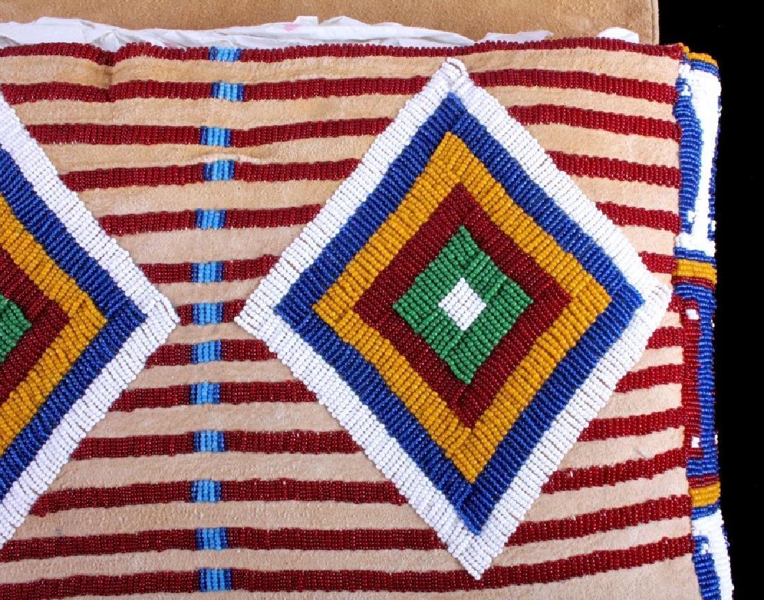 Blackfeet Indian Beaded Possibles Teepee Bag - 6
