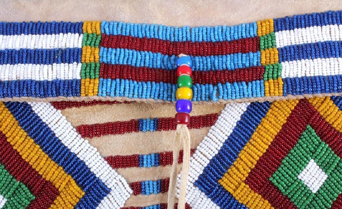 Blackfeet Indian Beaded Possibles Teepee Bag - 7