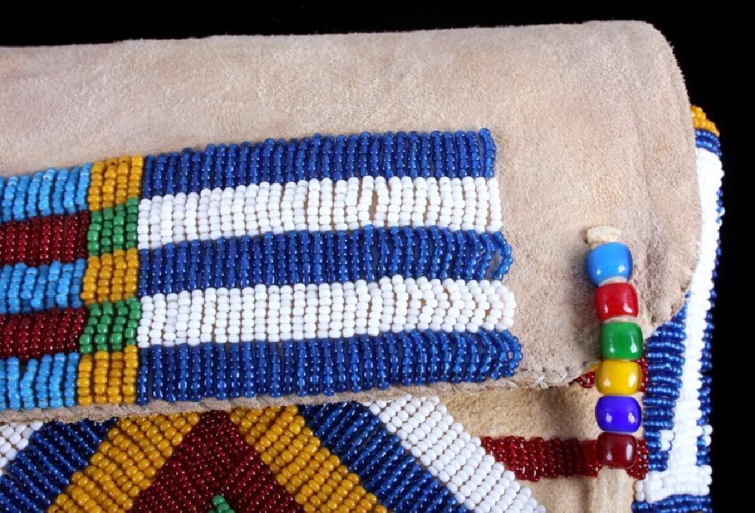 Blackfeet Indian Beaded Possibles Teepee Bag - 8