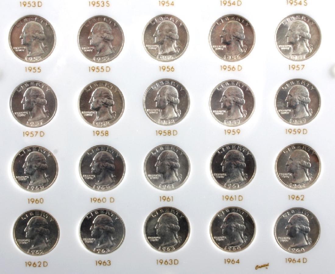 Complete Set Washington Quarters 1932-1964 UNC - 10