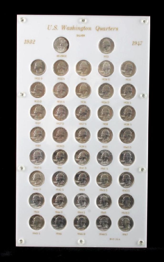 Complete Set Washington Quarters 1932-1964 UNC - 2