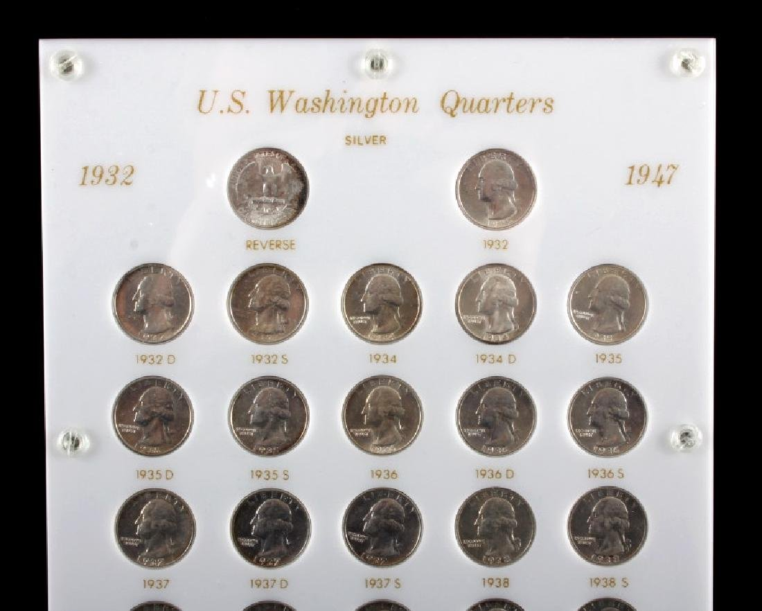 Complete Set Washington Quarters 1932-1964 UNC - 3