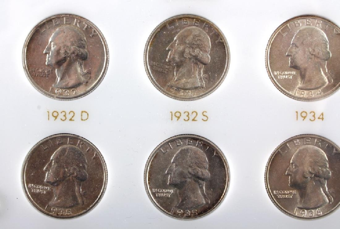 Complete Set Washington Quarters 1932-1964 UNC - 4