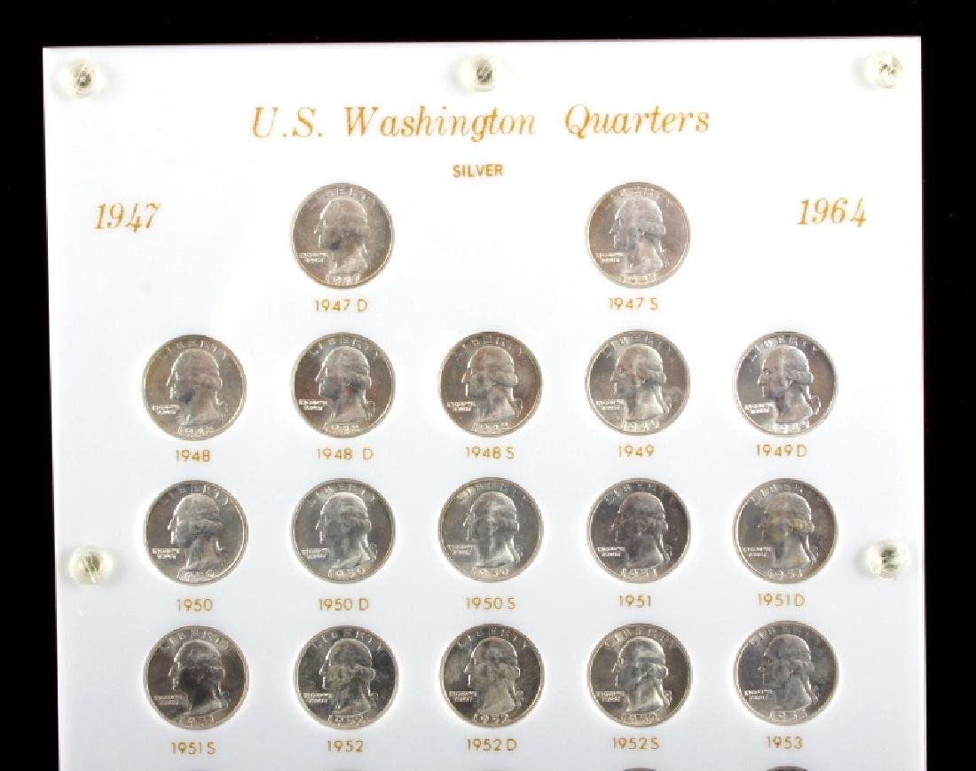 Complete Set Washington Quarters 1932-1964 UNC - 8