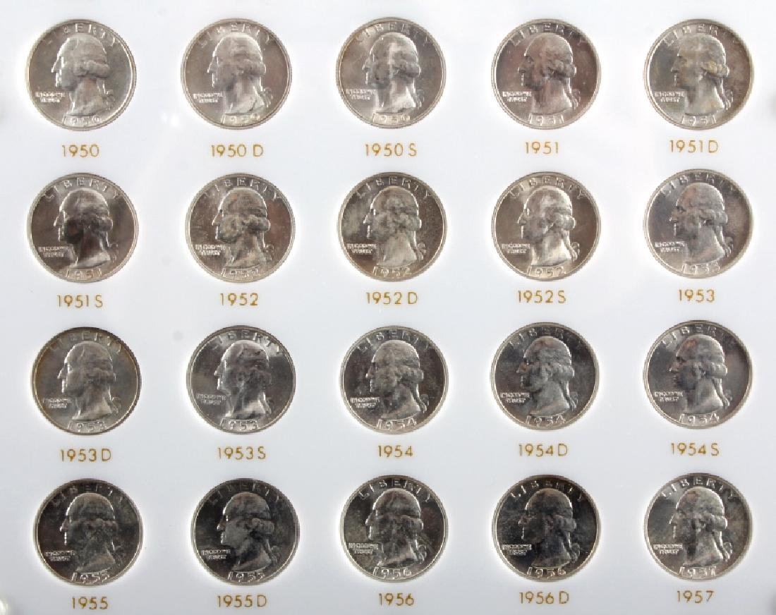 Complete Set Washington Quarters 1932-1964 UNC - 9