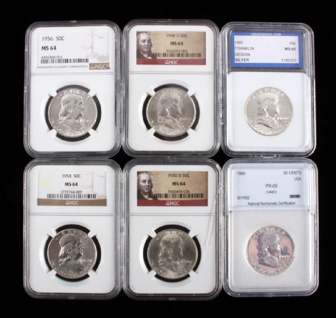 Graded Franklin Half Dollar Collection
