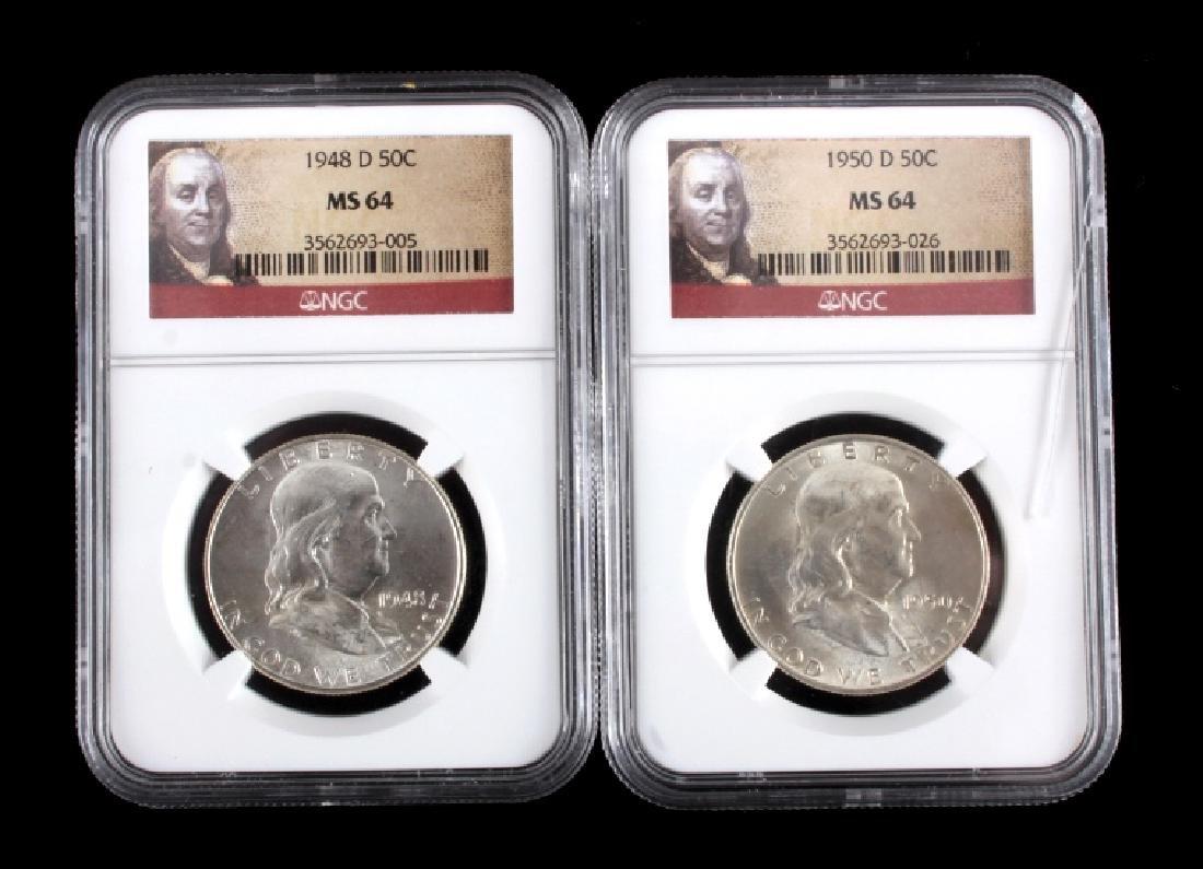 Graded Franklin Half Dollar Collection - 2
