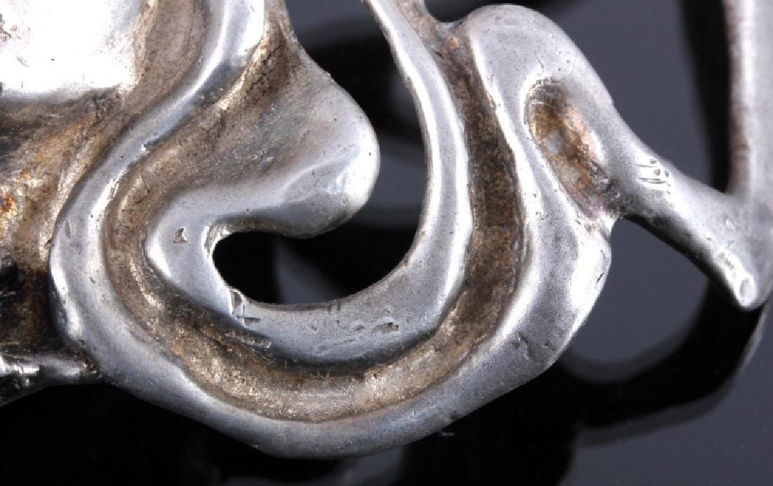 Navajo Sterling Silver Turquoise Belt Buckle - 6