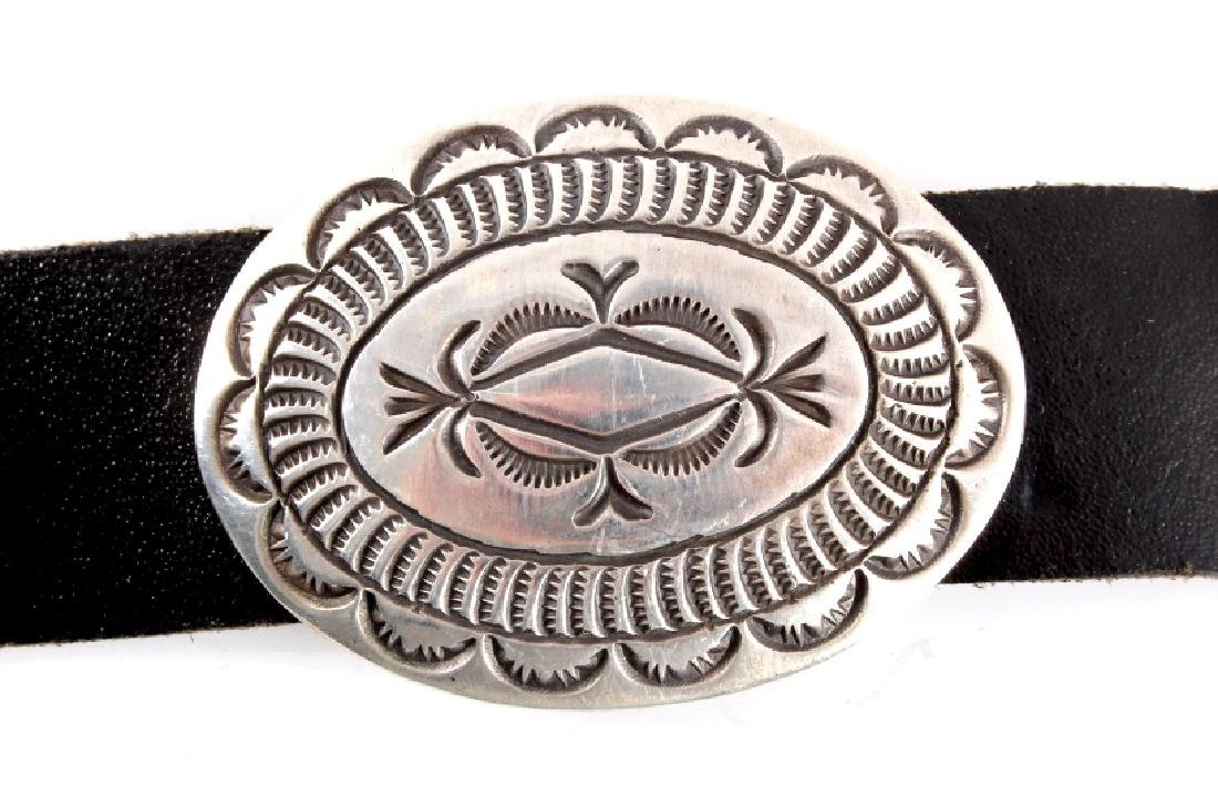 Navajo Cecil Henry Sterling Silver Concho Belt - 4