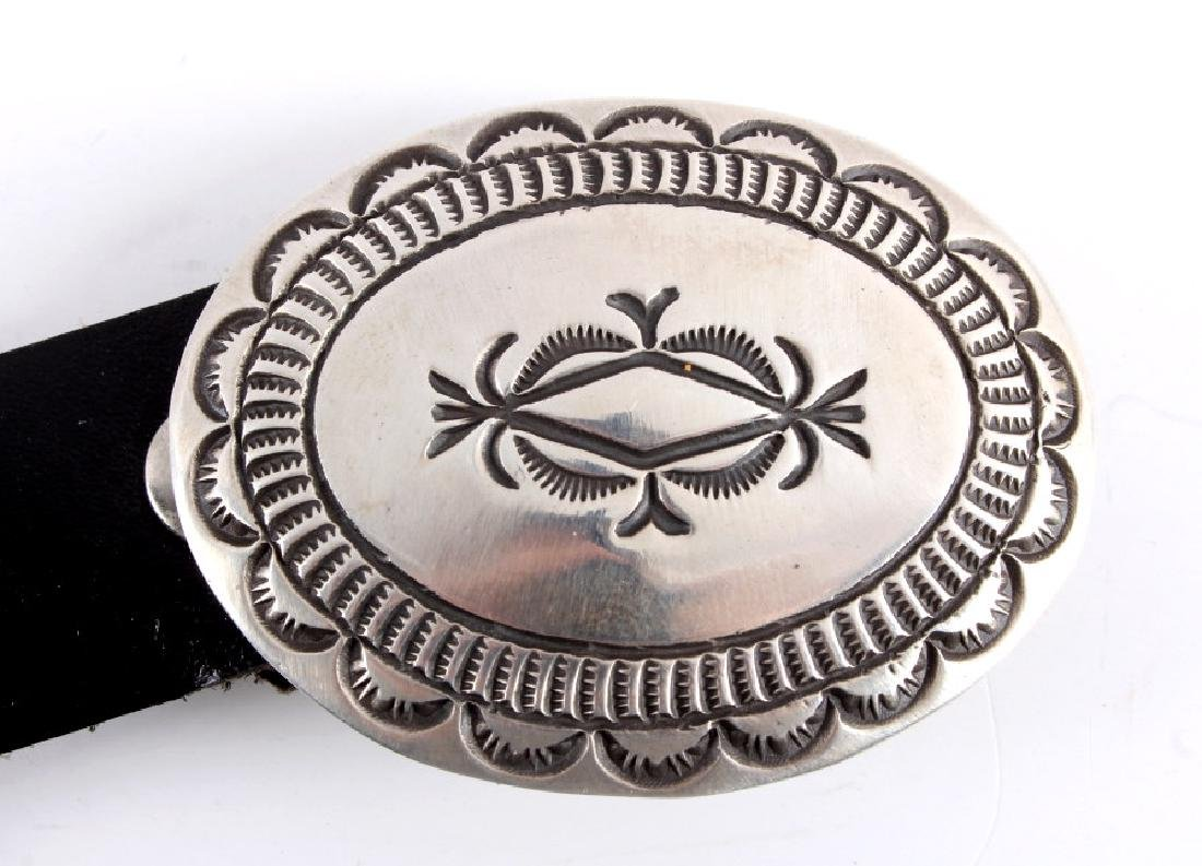 Navajo Cecil Henry Sterling Silver Concho Belt - 5