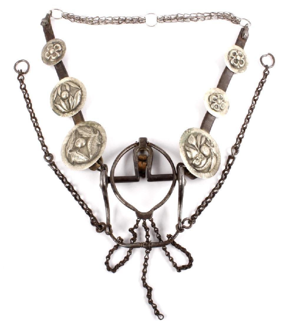 Vaquero Mexican Silver Concho Headstall 1800- RARE