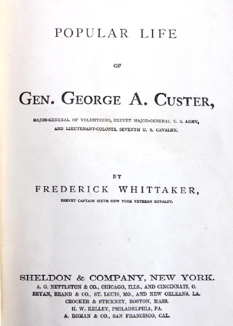 Popular Life of General Custer 1st Edition 1876 - 3