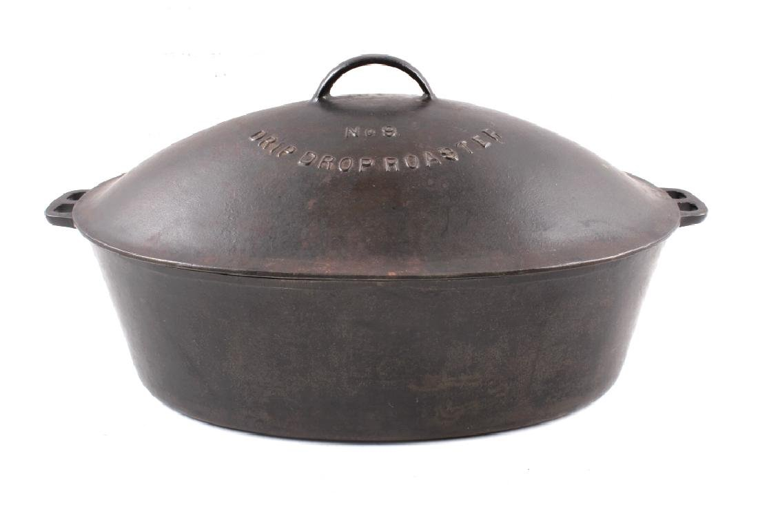 Wagner Ware Cast Iron Large No. 9 Oval Roaster
