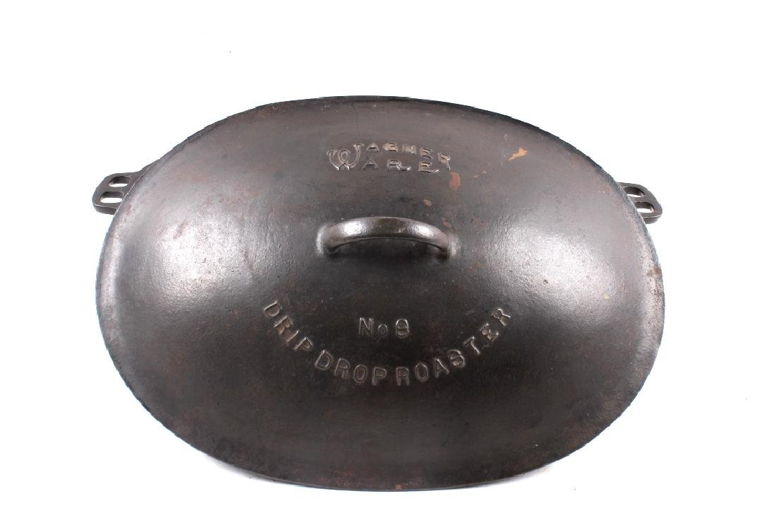 Wagner Ware Cast Iron Large No. 9 Oval Roaster - 2