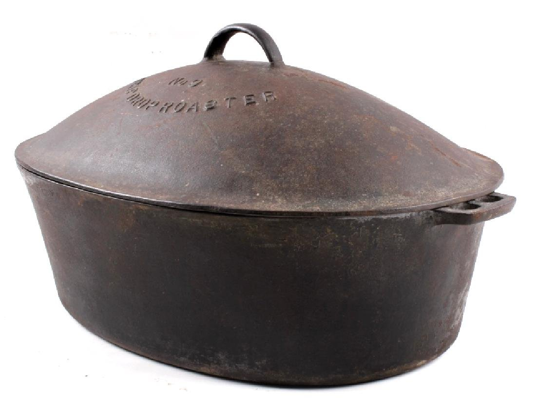 Wagner Ware Cast Iron Large No. 9 Oval Roaster - 3