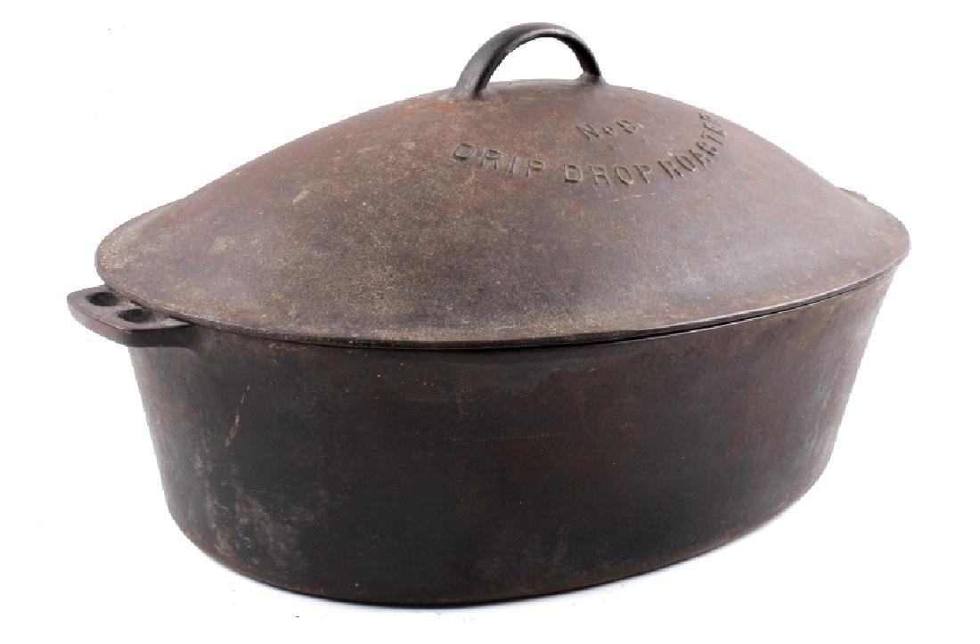 Wagner Ware Cast Iron Large No. 9 Oval Roaster - 4