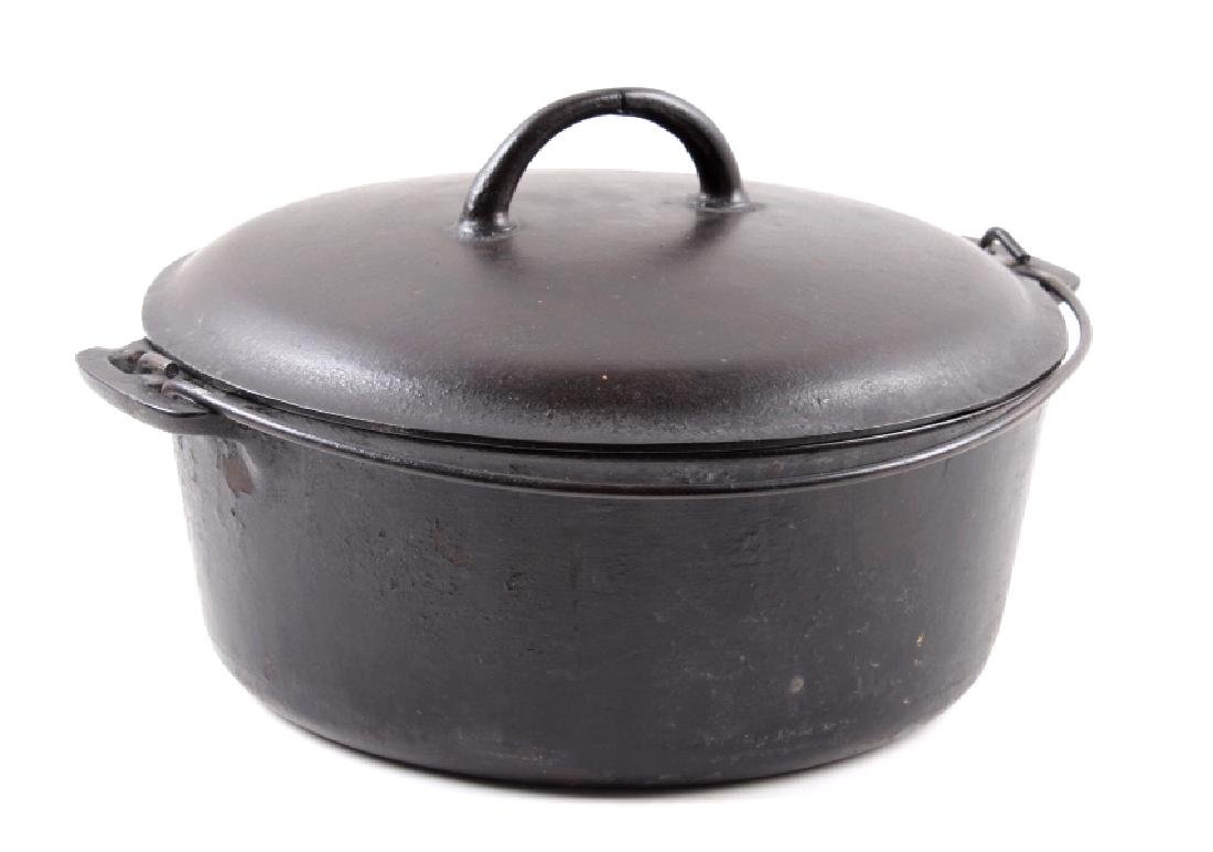 """Early """"Slant Erie"""" Griswold No. 9 Dutch Oven"""