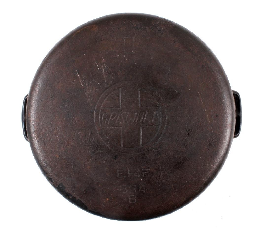 """Early """"Slant Erie"""" Griswold No. 9 Dutch Oven - 8"""