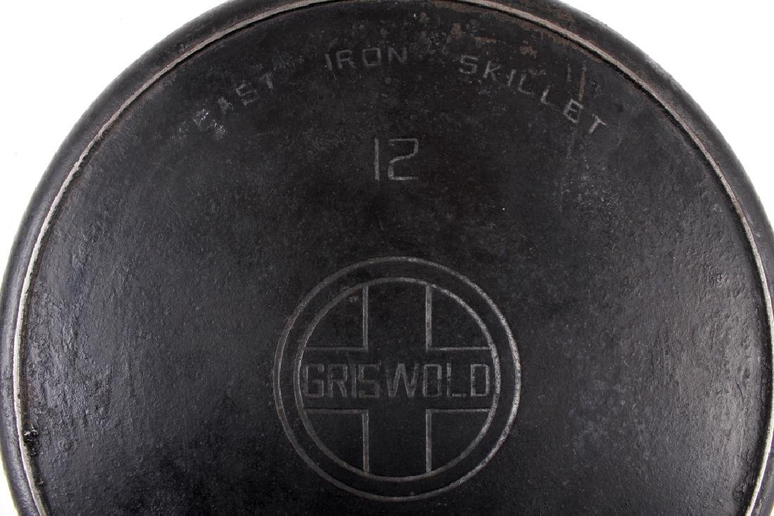 Griswold No. 12 Self Basting Skillet With Cover - 10