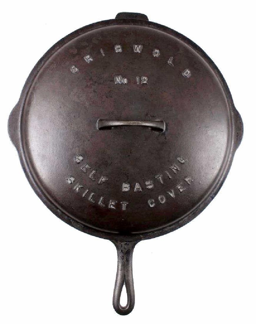 Griswold No. 12 Self Basting Skillet With Cover