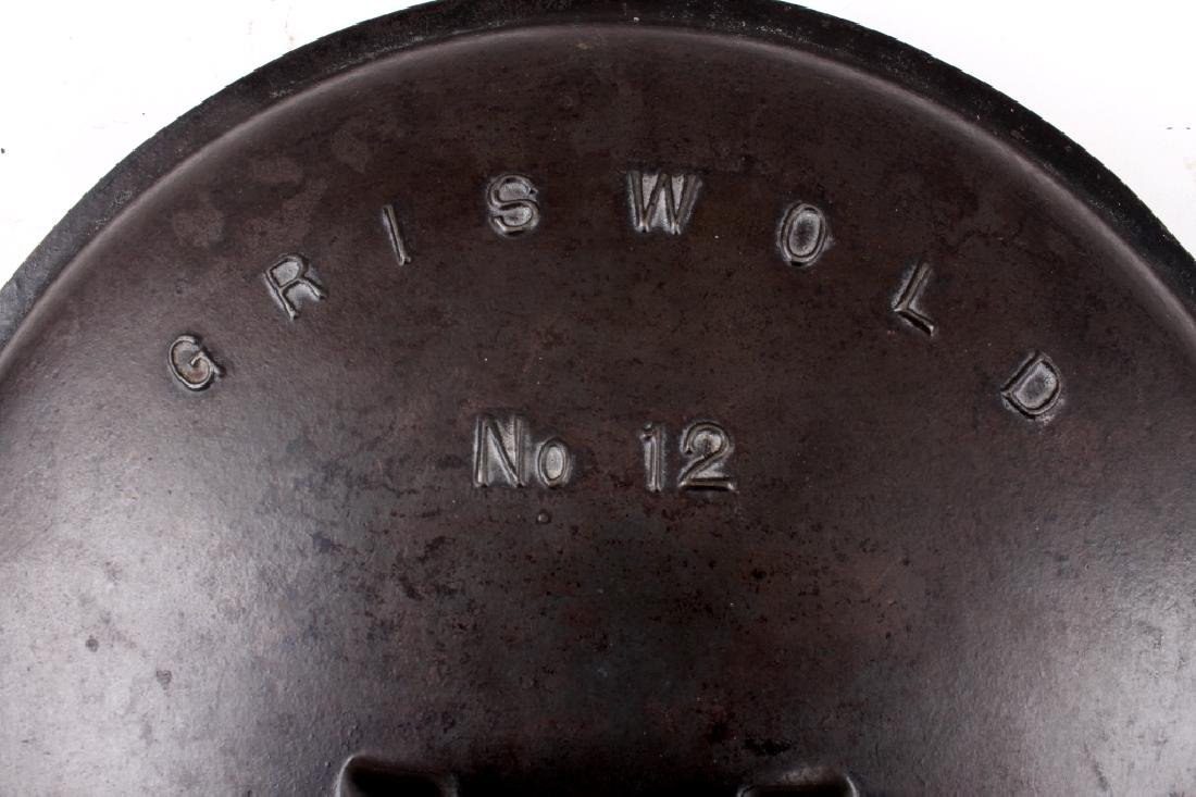 Griswold No. 12 Self Basting Skillet With Cover - 2