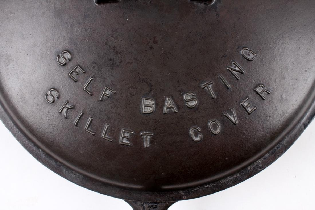 Griswold No. 12 Self Basting Skillet With Cover - 3