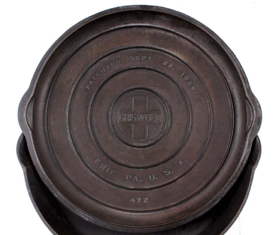 Griswold No. 12 Self Basting Skillet With Cover - 4