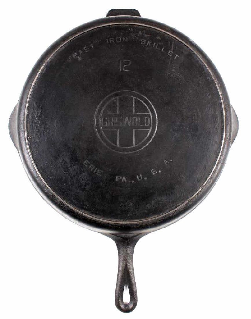 Griswold No. 12 Self Basting Skillet With Cover - 9