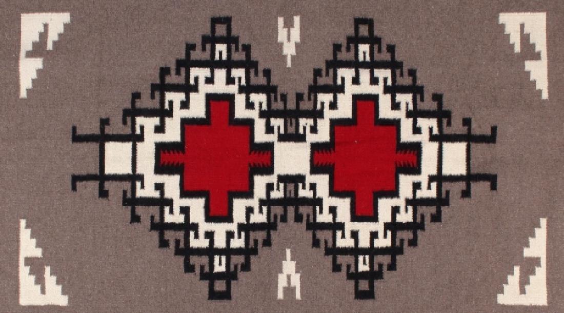Navajo Native American Klagetoh Pattern Wool Rug - 2