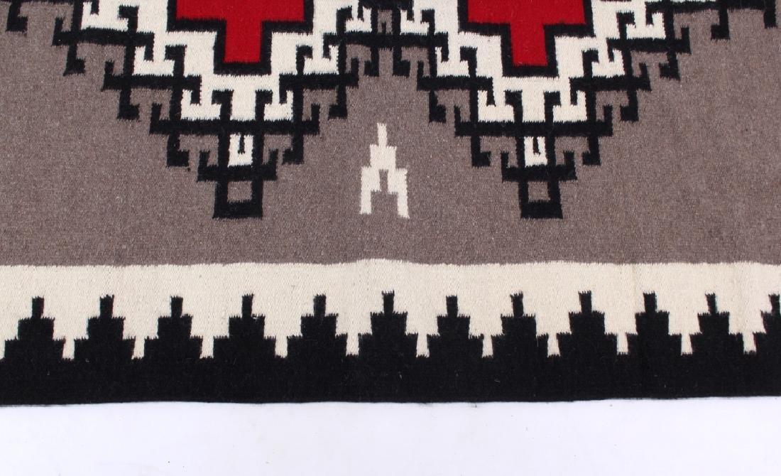 Navajo Native American Klagetoh Pattern Wool Rug - 4
