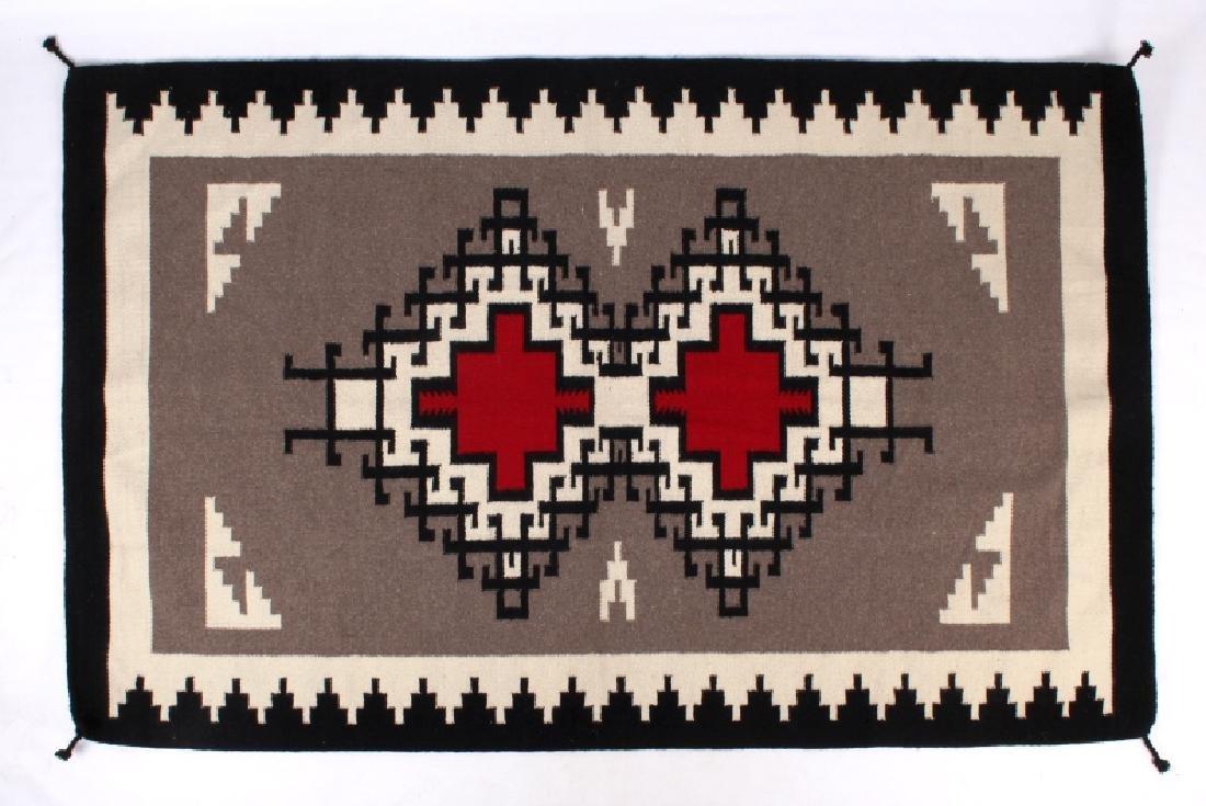 Navajo Native American Klagetoh Pattern Wool Rug - 7