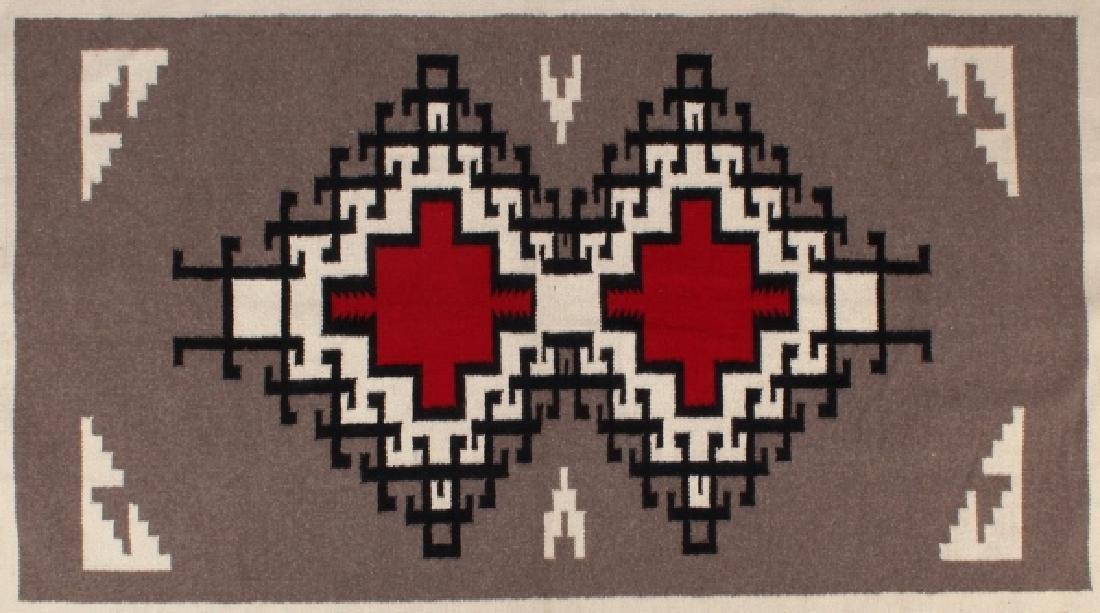 Navajo Native American Klagetoh Pattern Wool Rug - 8
