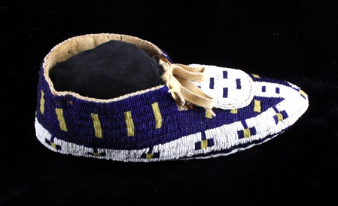 Blackfeet Native American Fully Beaded Moccasins - 10