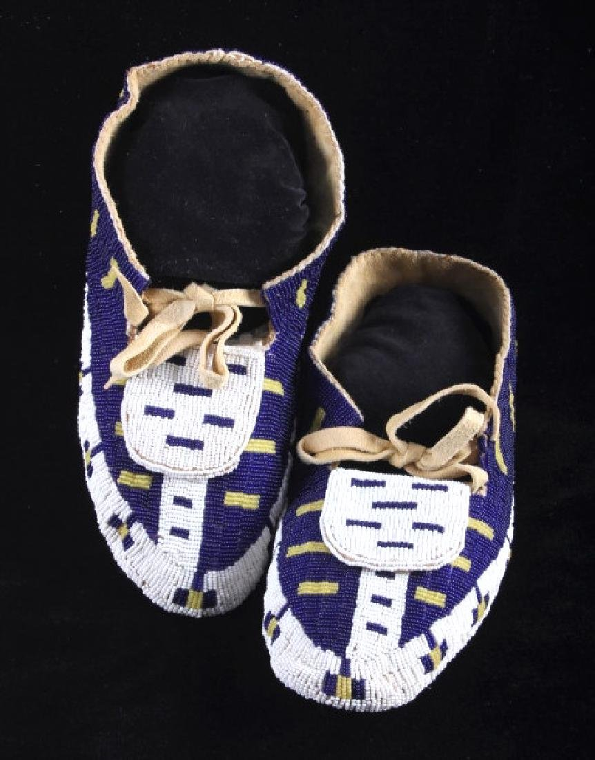 Blackfeet Native American Fully Beaded Moccasins