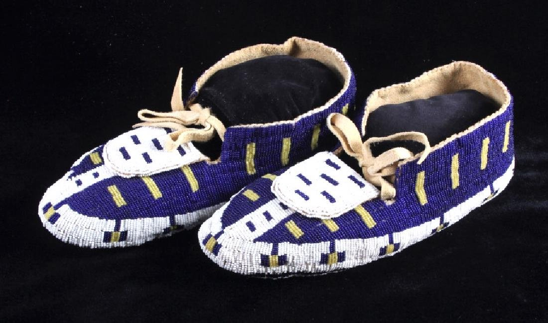 Blackfeet Native American Fully Beaded Moccasins - 3